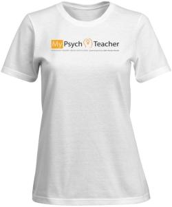 T-Shirt_MyPsychTeacherLogo_Transparent_COLOR_VistaPrint_WHITE_WOMEN_SmallView